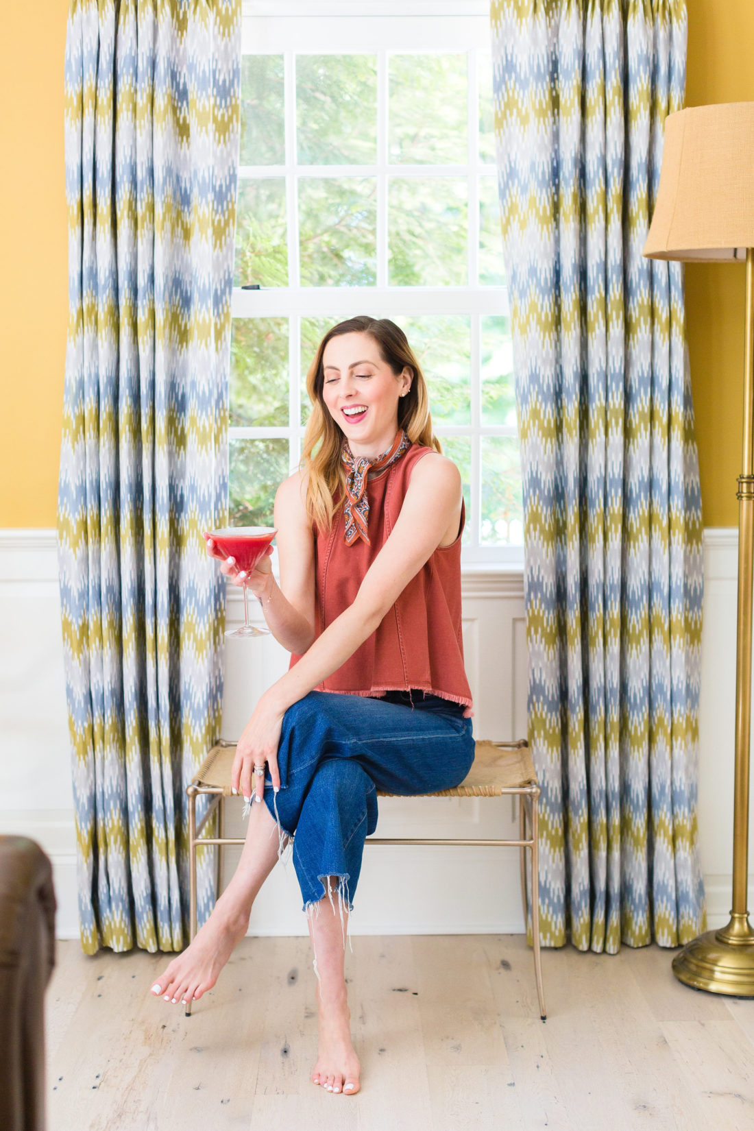 Eva Amurri Martino sits in the living room of her Connecticut home, sipping a blood orange and ginger martini
