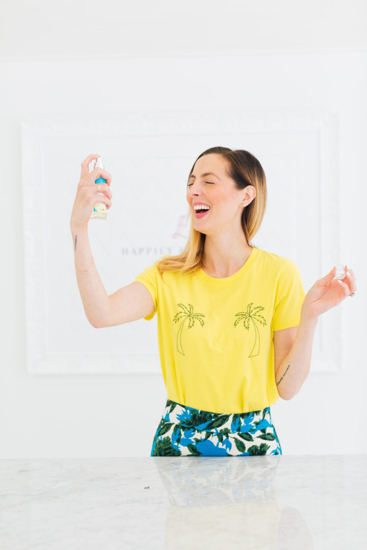 Eva Amurri Martino holds up one of her August obsessions