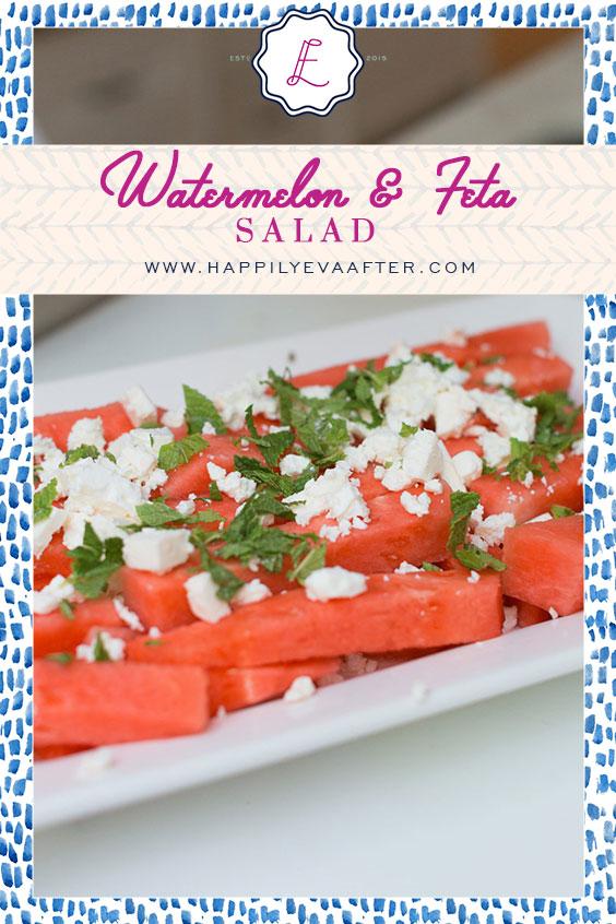 Eva Amurri shares a summery recipe for Watermelon & Feta Salad