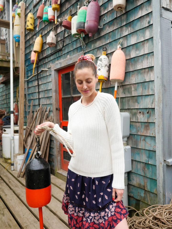 Eva Amurri Martino get nautical in Bar Harbor, ME.