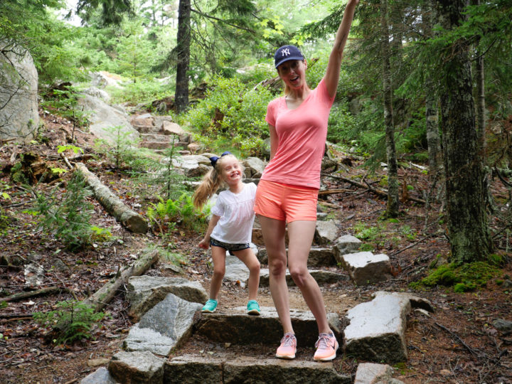 Eva Amurri Martino and her daughter Marlowe go on a hike in Bar Harbor, ME.