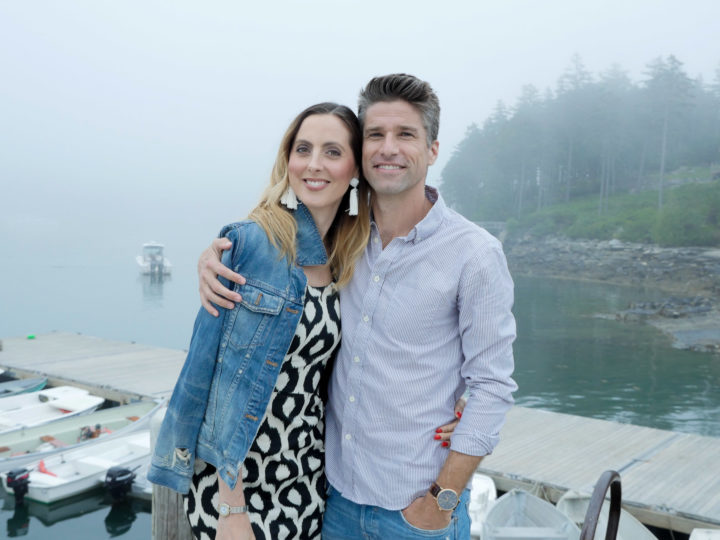 Eva Amurri Martino and husband Kyle in Bar Harbor, ME.