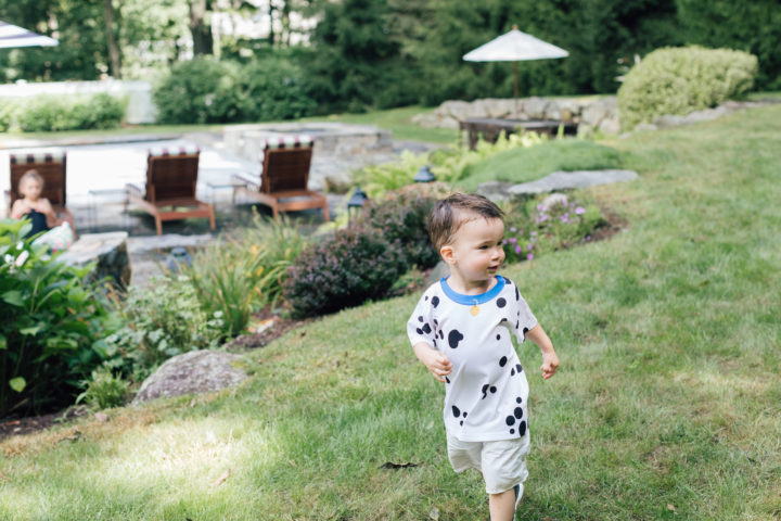 Eva Amurri Martino's son Major wears a Dalmatian shirt at his sister Marlowe's 4th birthday.