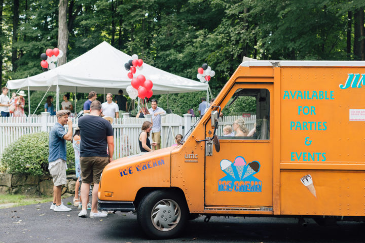 The ice cream truck arrives at Marlowe's 4th birthday party