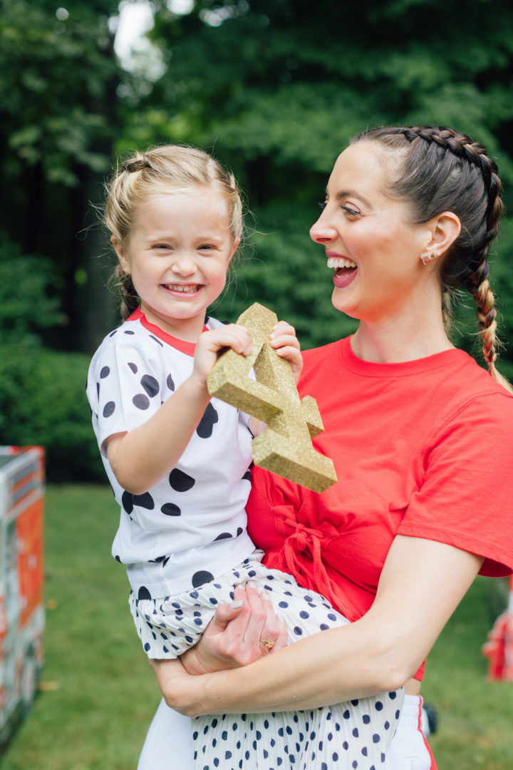 Eva Amurri Martino and her daughter Marlowe at her 4th birthday party