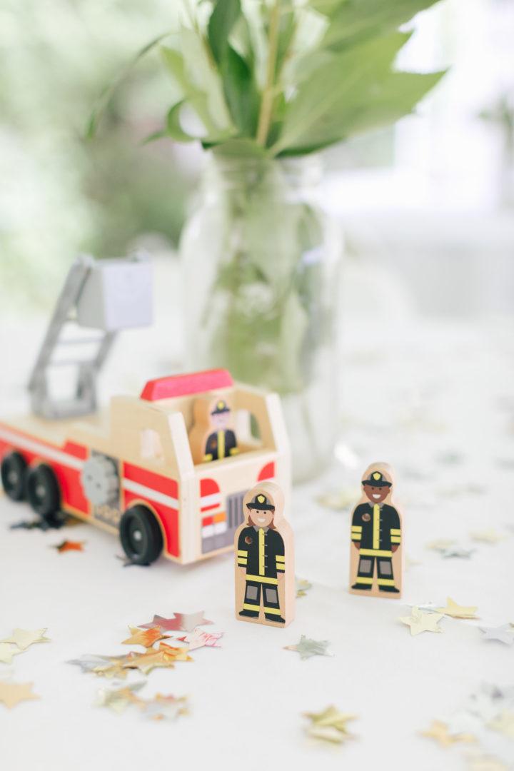 Melissa & Doug firetruck and firemen toys
