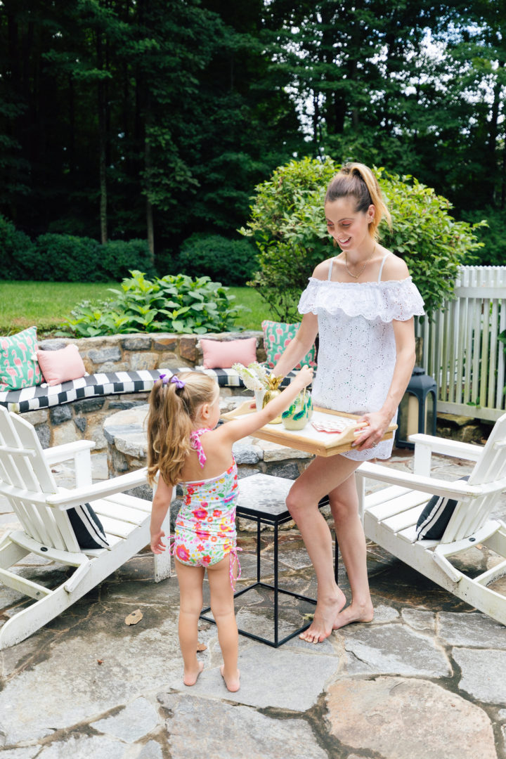 Eva Amurri Martino updates her outdoor decor with products from Frontgate