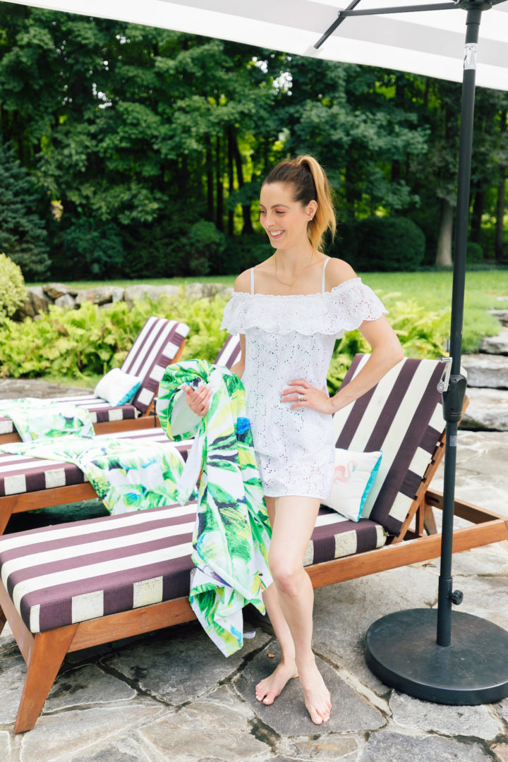 Eva Amurri Martino updates her outdoor decor with products Frontgate