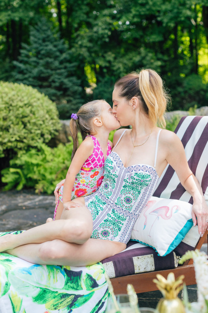 Eva Amurri Martino updates her outdoor decor with throw pillows from Frontgate