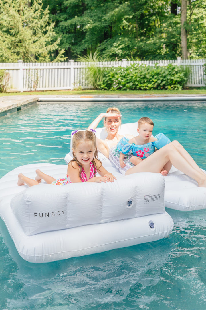 Eva Amurri Martino updates her outdoor decor with pool floats from Frontgate