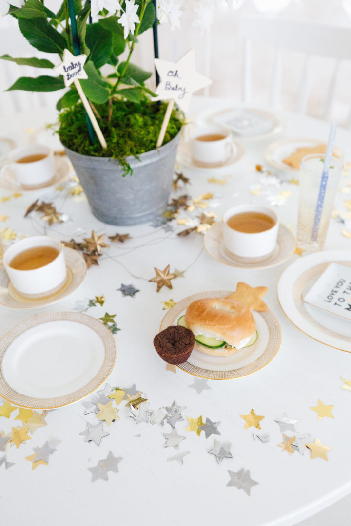 A close up of the detail at Eva Amurri Martino's Celestial Baby Sprinkling Party