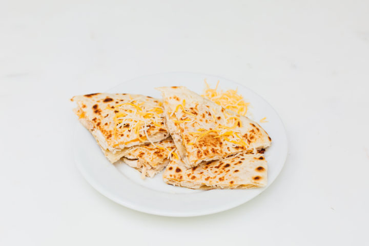 Eva Amurri Martino shares her recipe for Chicken Quesadillas using rotisserie chicken