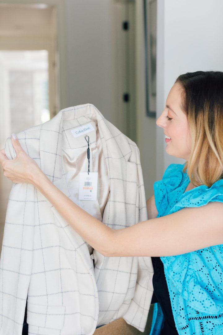 Eva Amurri Martino opens up her first Amazon Prime Wardrobe package