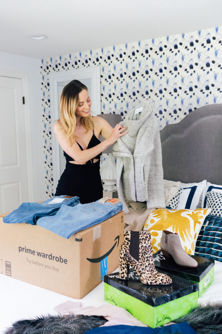 Eva Amurri Martino opens up her first Amazon Prime Wardrobe package