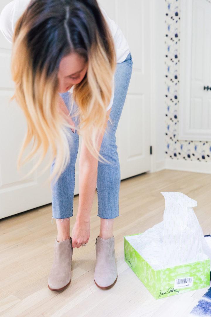 Eva Amurri Martino tries on her new Amazon Prime Wardrobe picks