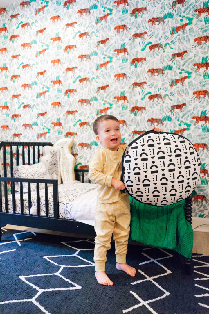 Eva Amurri Martino unveils her son Major's new toddler bed at their home in Connecticut