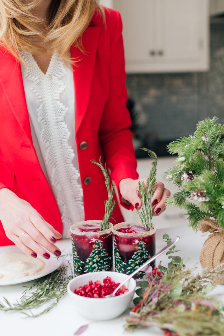 Eva Amurri Martino shares her recipes for Winter Pomegranate Margaritas.