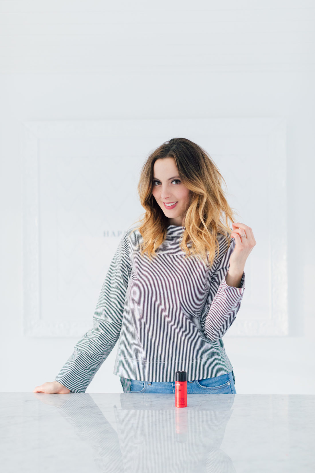 Eva Amurri Martino creates full, tousled hair with Big Sexy Hair Powder Play as part of her monthly obsessions roundup
