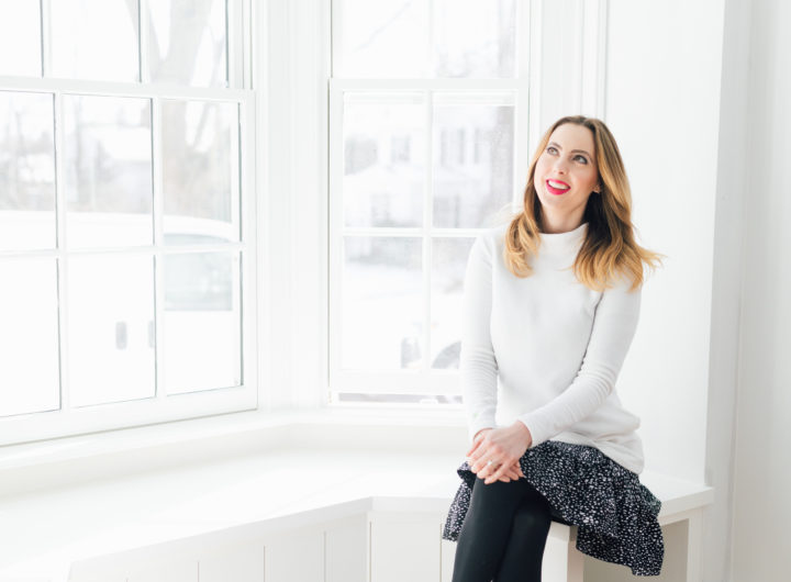 Eva Amurri Martino sits in her historic home during renovation.