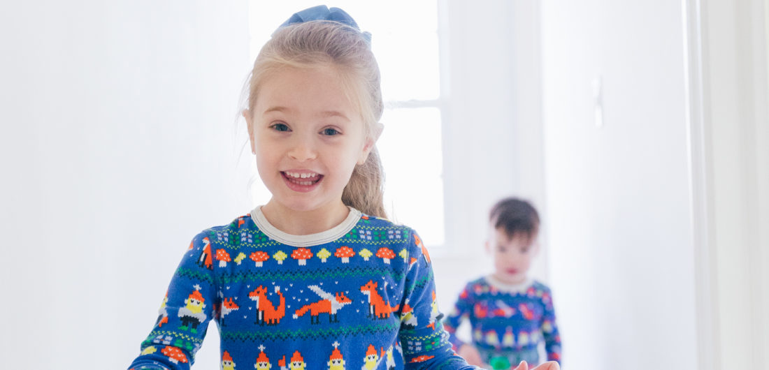 Eva Amurri Martino's children Major and Marlowe wears printed pajamas while entertaining themself at home