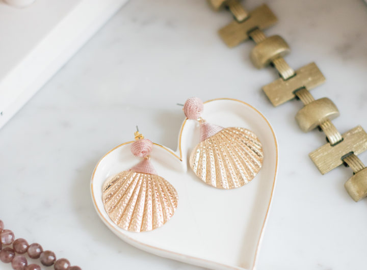 Eva Amurri Martino's delicate shell earrings