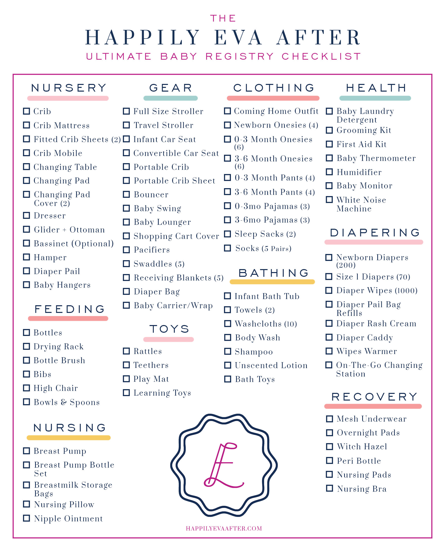 The Happily Eva After Ultimate Baby Registry Checklist