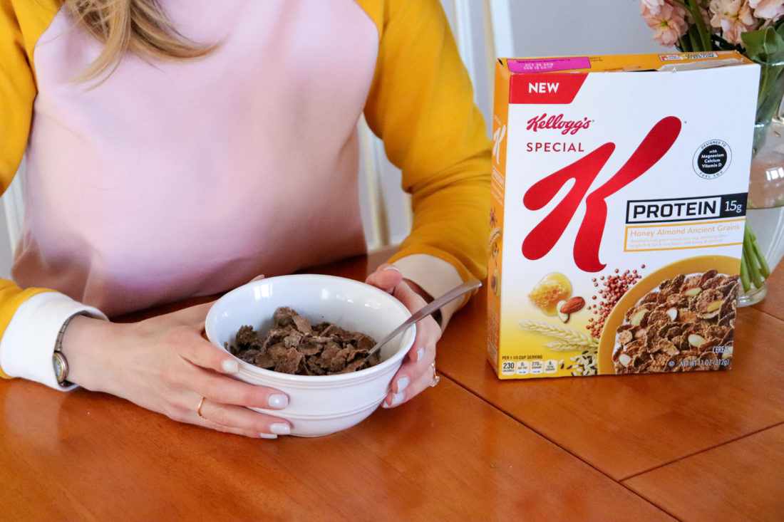 Eva Amurri Martino of Happily Eva After eats Kellogg's Special K for breakfast