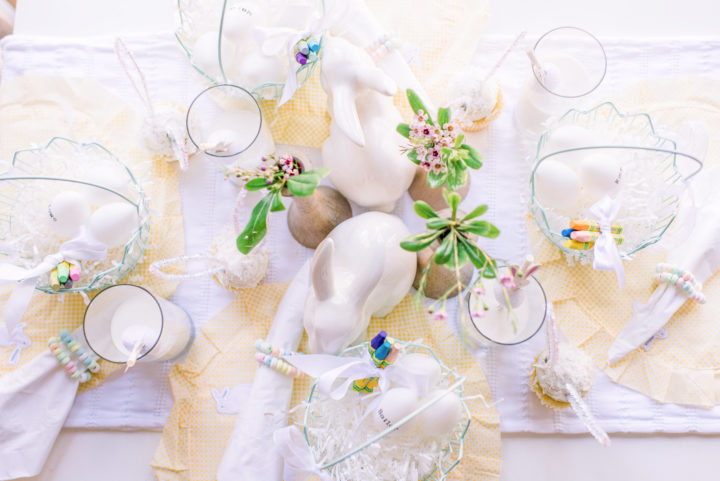 Eva Amurri and Joanna Garcia Swisher share Easter Table Decor ideas for a Family-Friendly Easter Supper