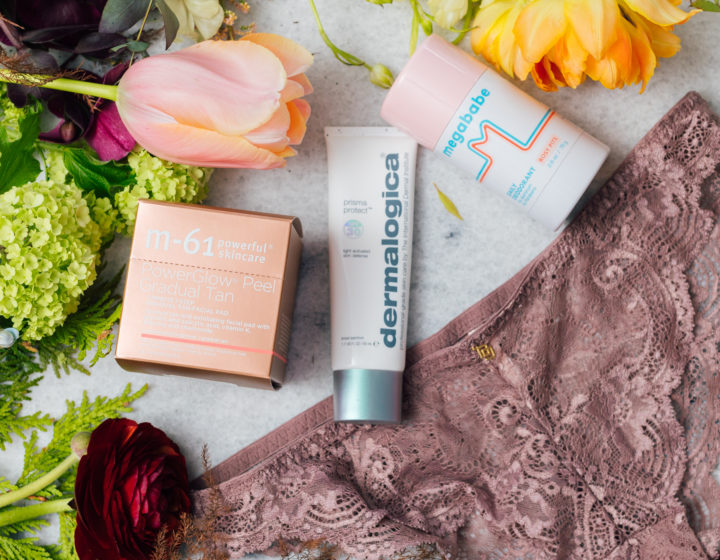 Eva Amurri Martino shares a roundup of her favorite obsession products for april, including underwear, skincare, and deodorant