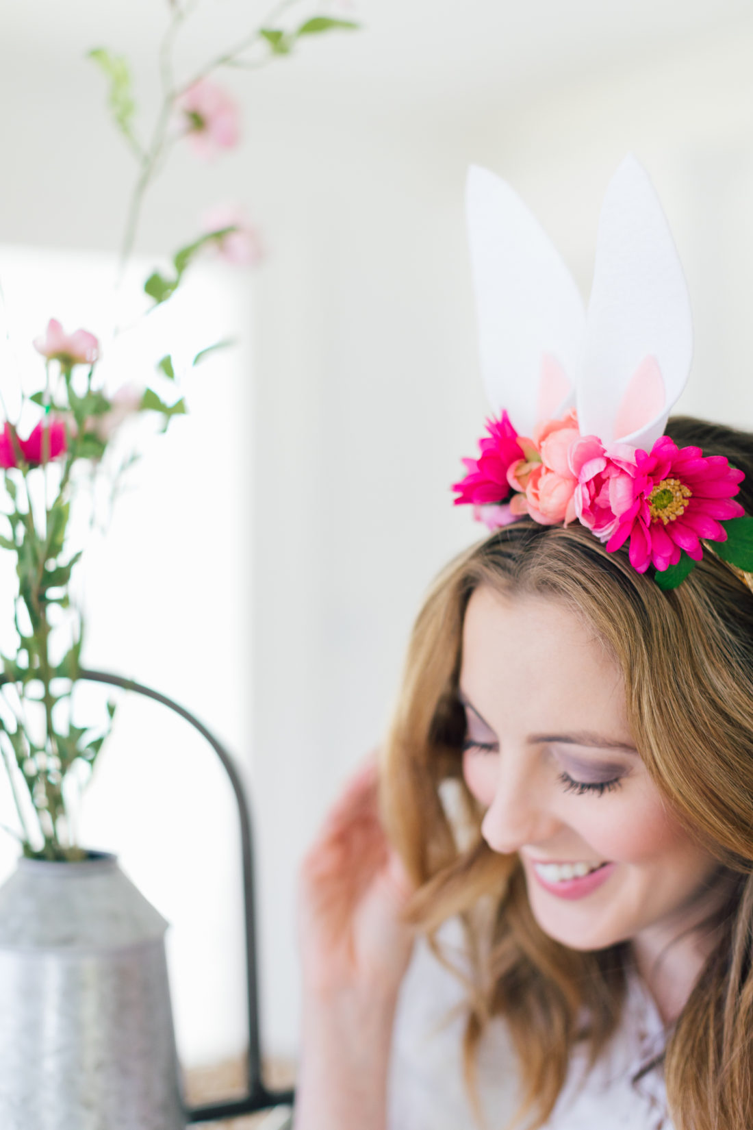 Eva Amurri Martino of Happily Eva After gives a DIY tutorial on how to make her Woodland Bunny Headband for Easter