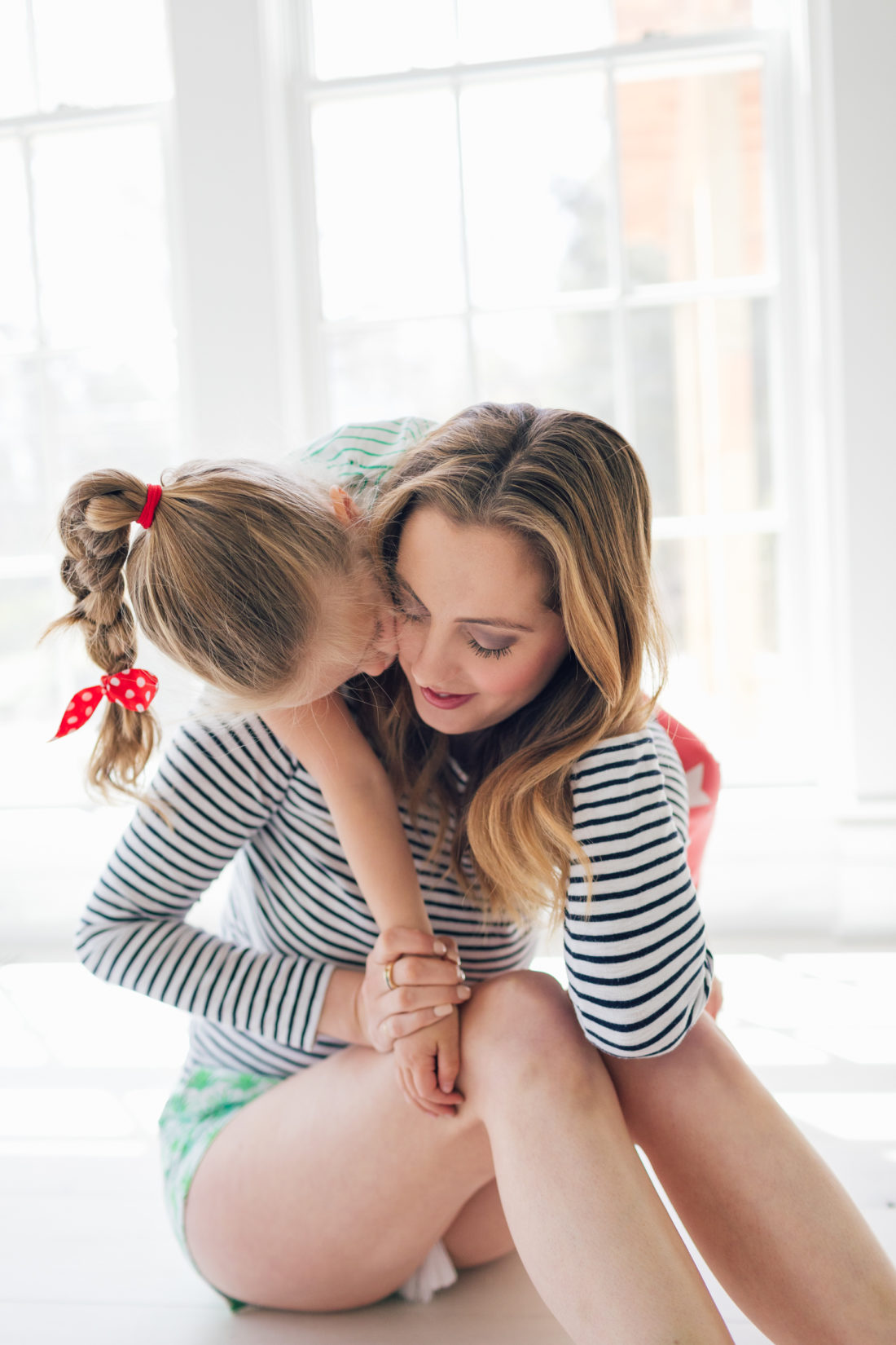 Eva Amurri Martino gets a hug from her daughter Marlowe in their new Connecticut home