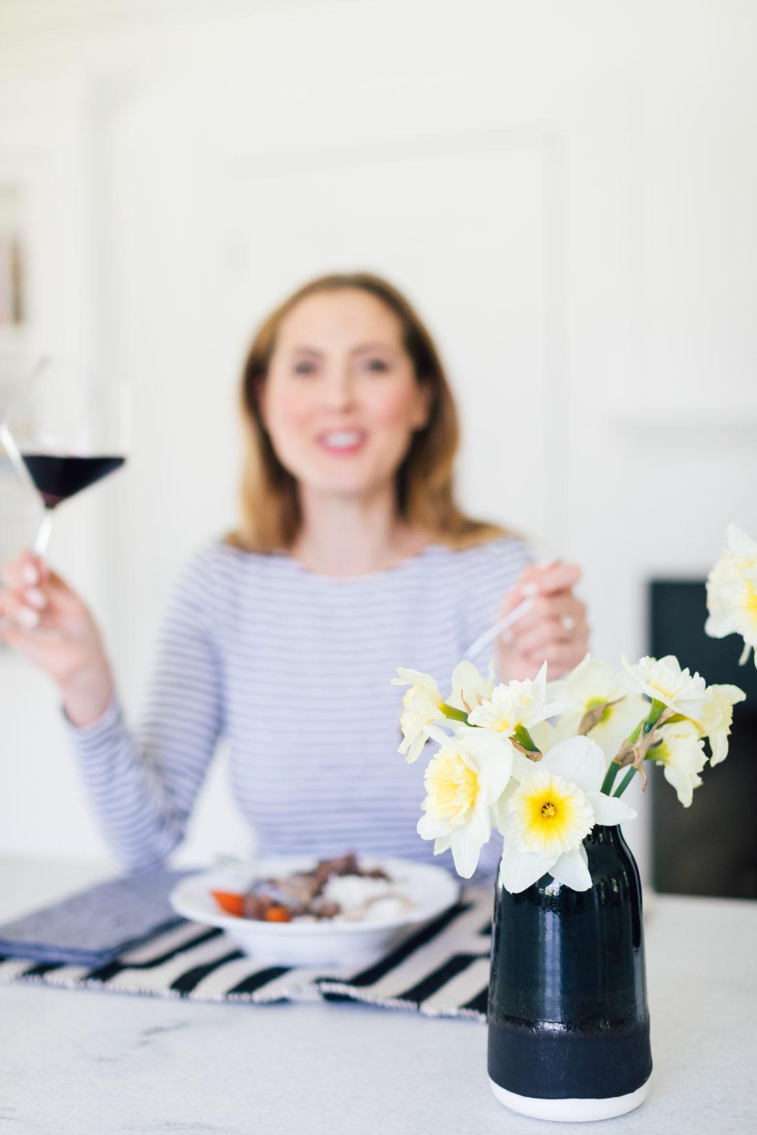 Eva Amurri Martino enjoys her Coq Au Vin
