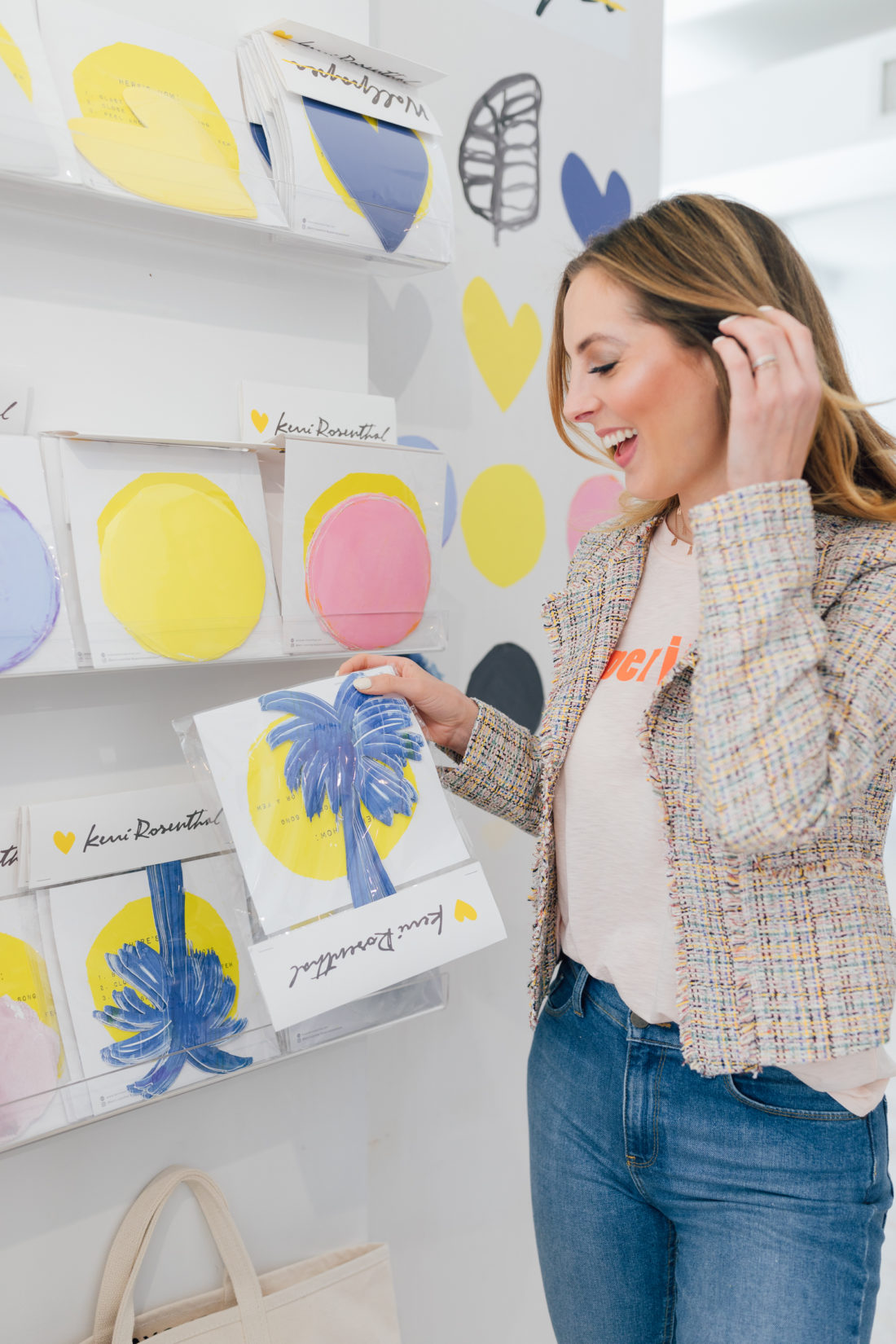 Kerri Rosenthal talks design with Eva Amurri Martino of Happily Eva After at her shop in Westport, CT