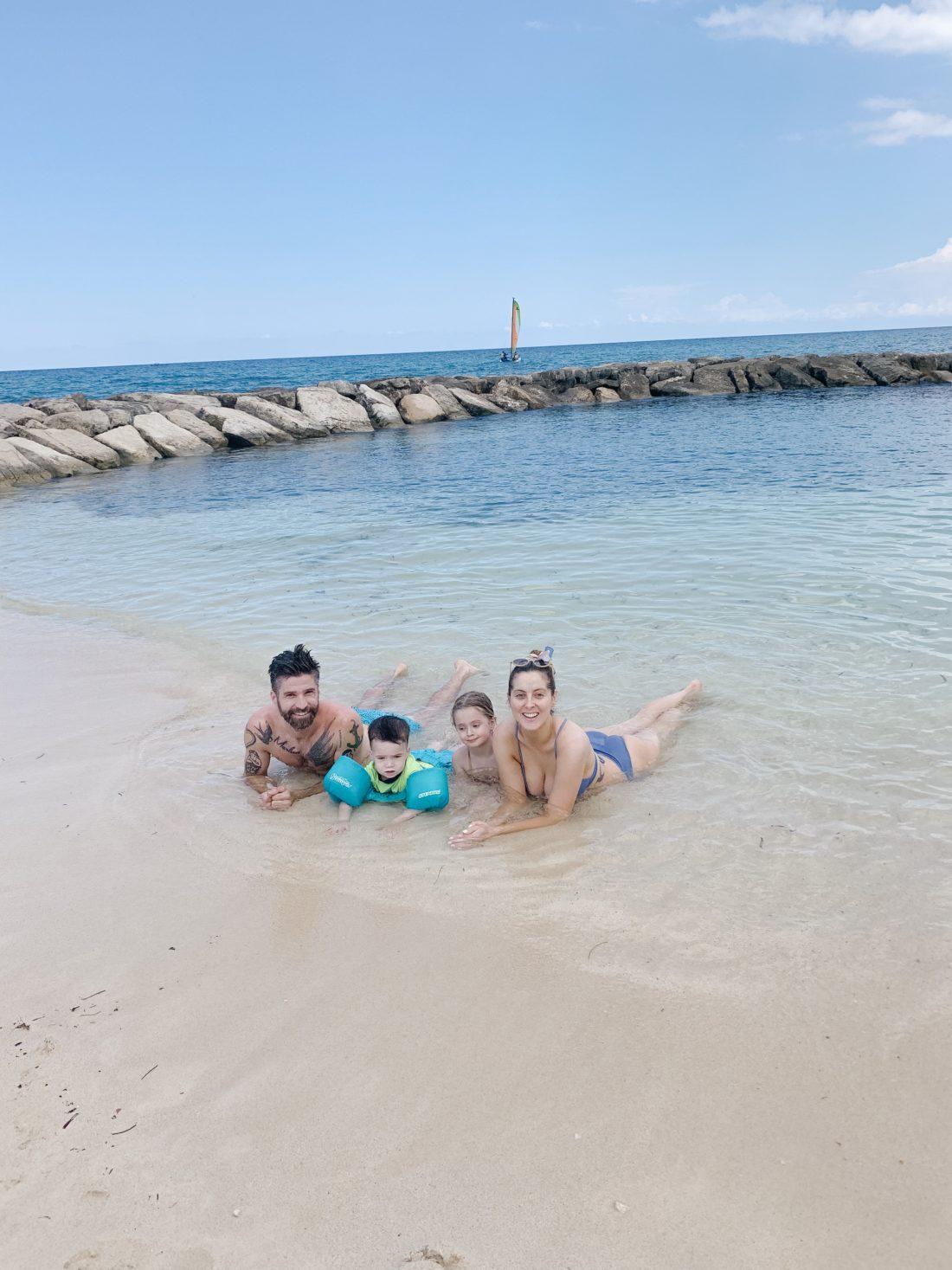 Eva Amurri Martino poses with her family on a trip to Jamaica