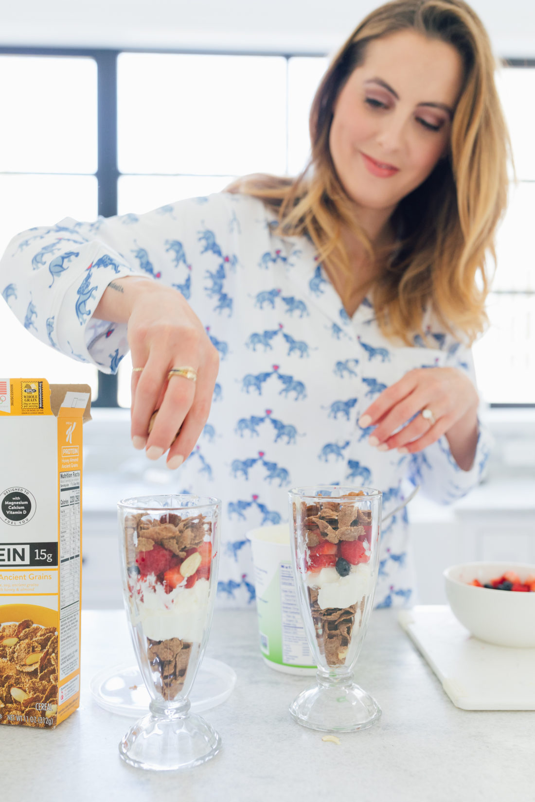 Eva Amurri Martino of Happily Eva After tops off her parfait with some Special K Ancient Grains
