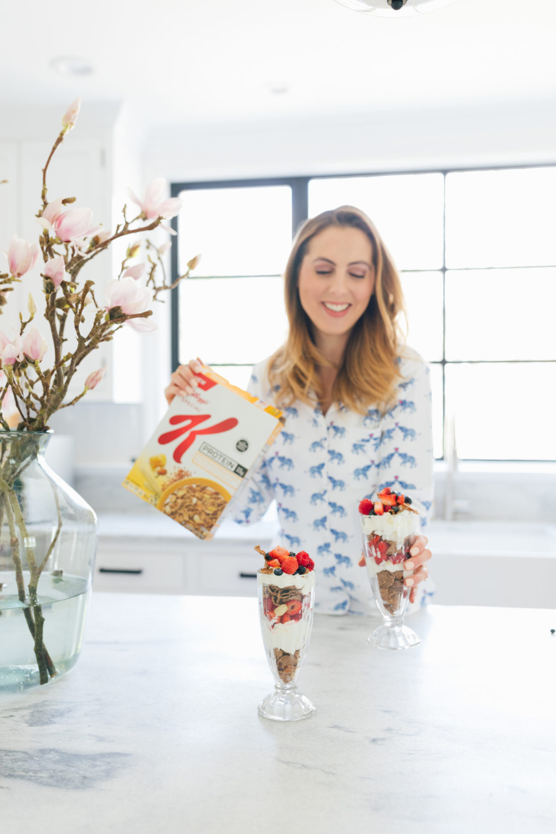 Eva Amurri Martino of Happily Eva After makes Yogurt Parfaits with Special K Ancient Grains
