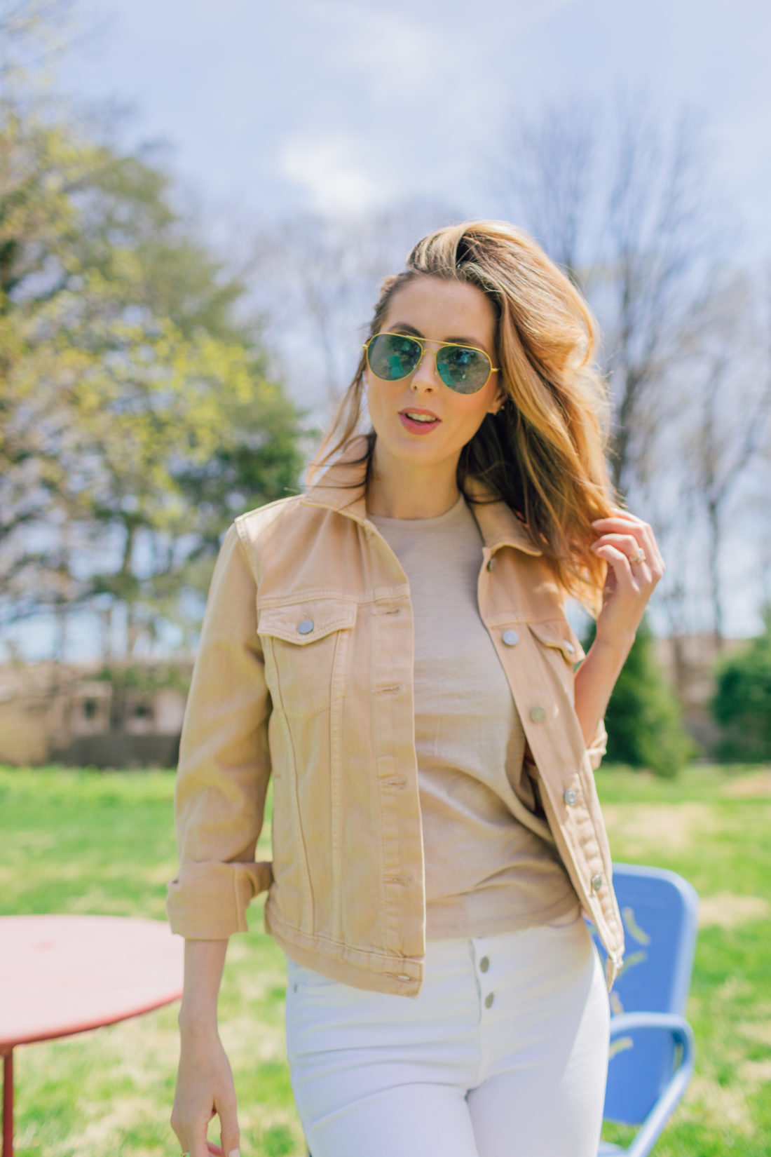 Eva Amurri Martino of Happily Eva After stands in her garden and shares her favorite nude colored pieces for spring