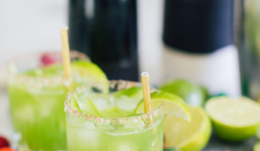 Eva Amurri Martino of Happily Eva After shares her recipe for cucumber margaritas with Chili Salt