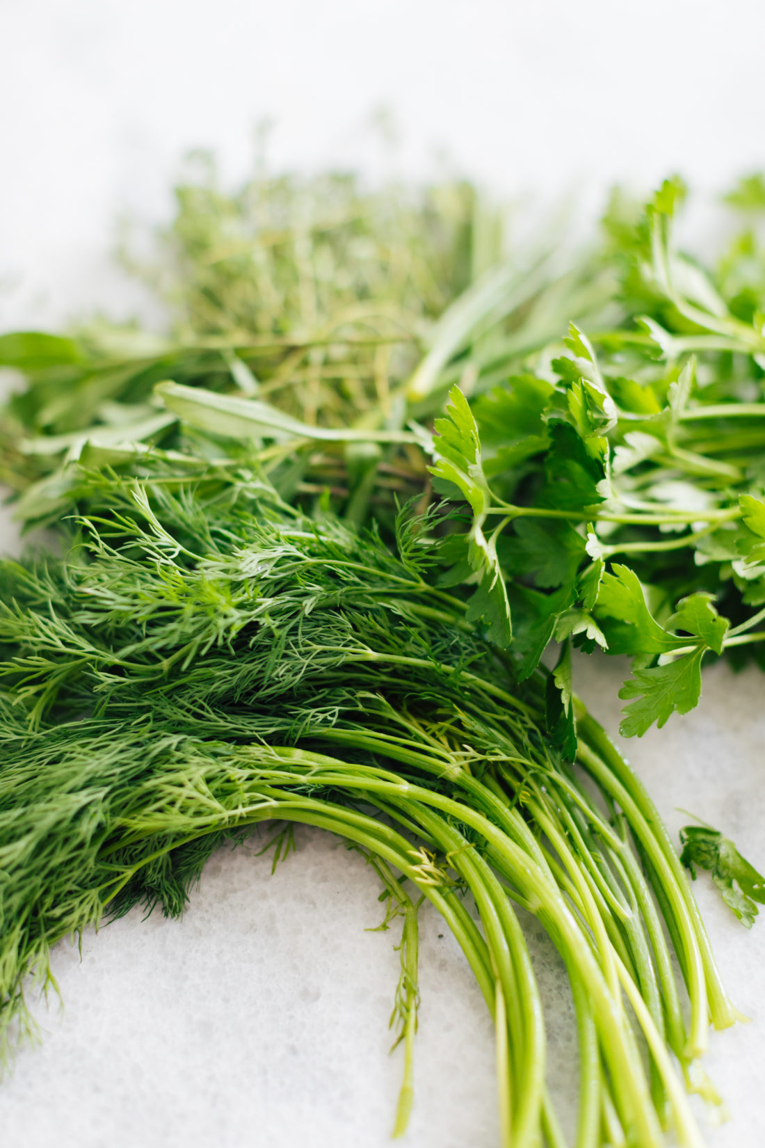 Dill on a table before chopping