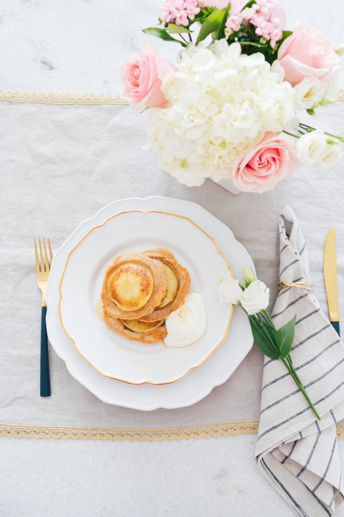 Eva Amurri Martino of Happily Eva After shares her recipe for Glow Pancakes for Mother's Day Brunch