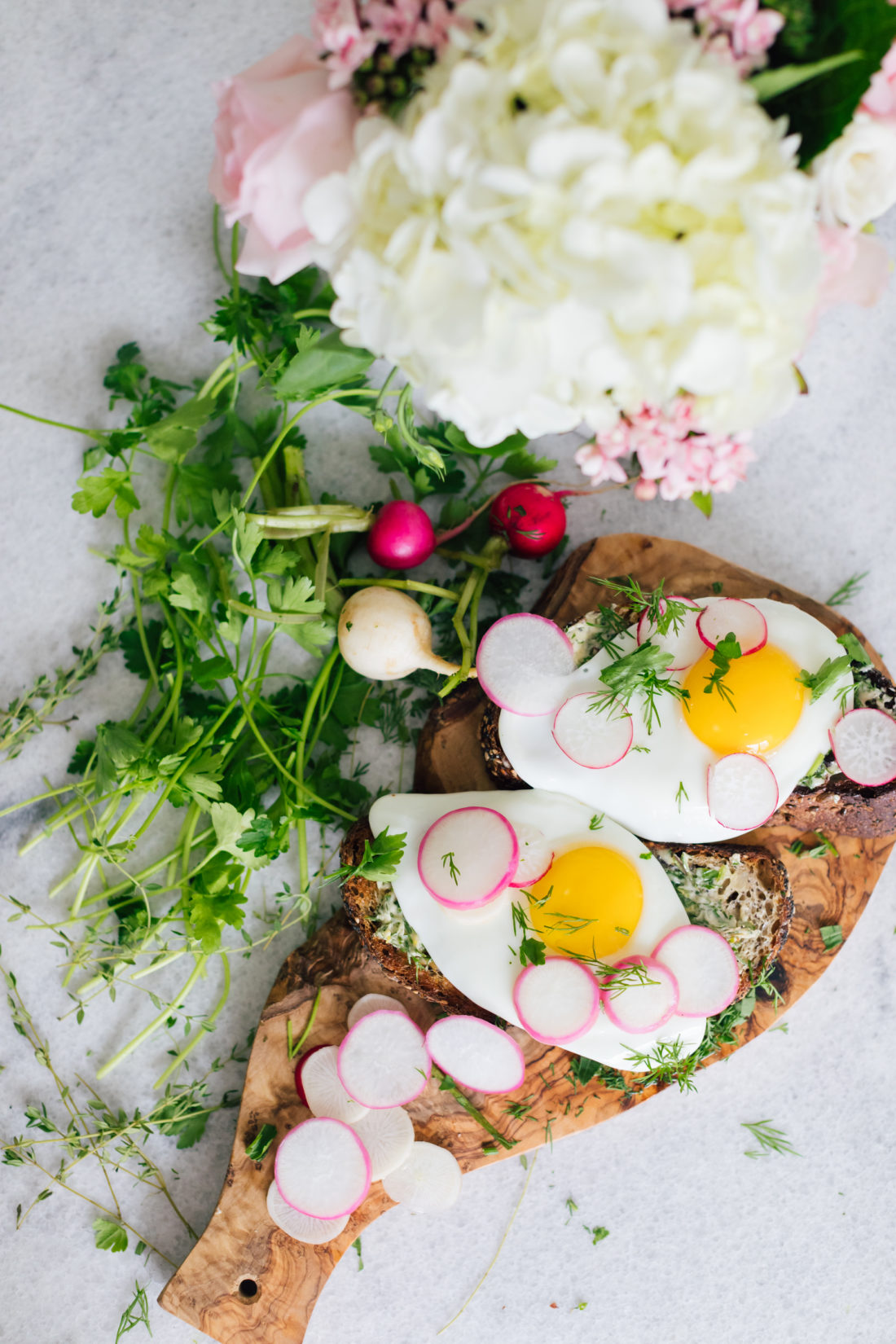 Eva Amurri Martino of Happily Eva After shares her recipe for Egg Toasts for Mother's Day Brunch