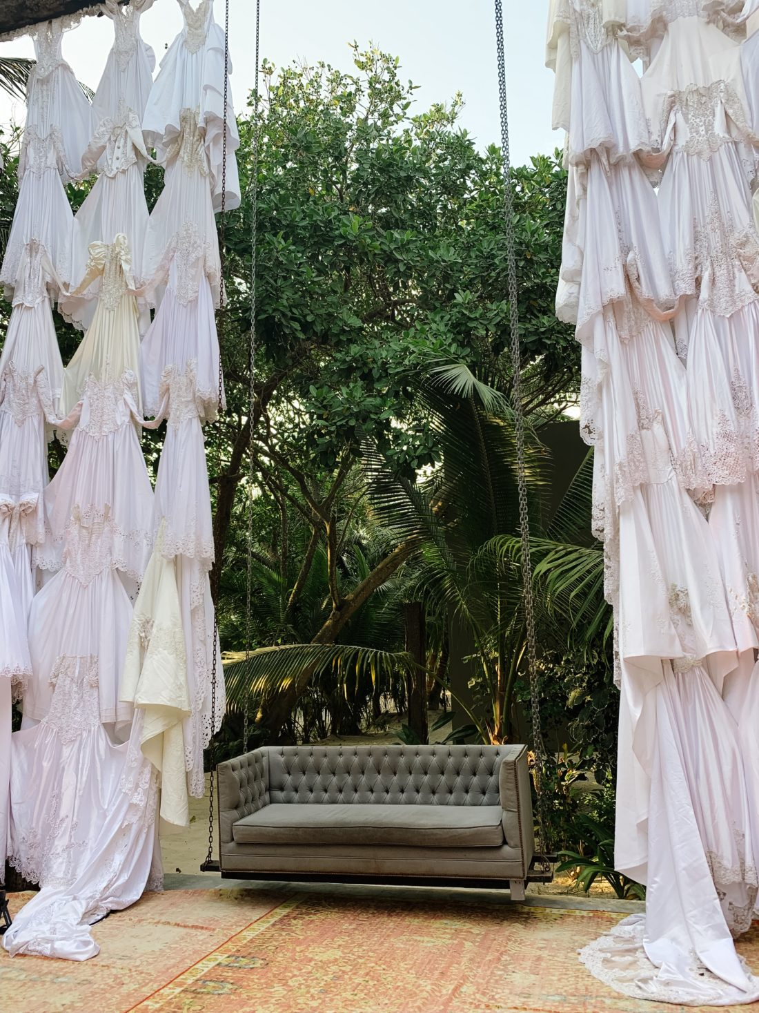 The lush decor of Summit Tulum