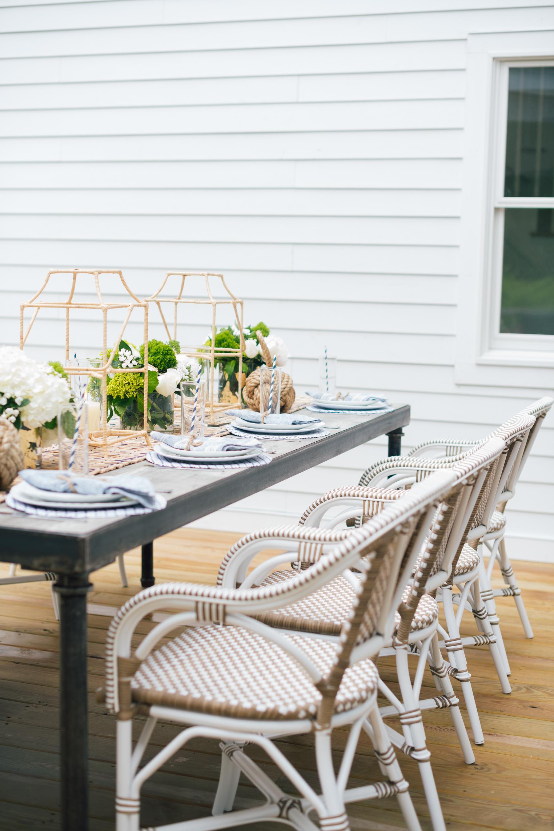 Serena and Lily tabletop decor at Eva Amurri Martino's summer clambake