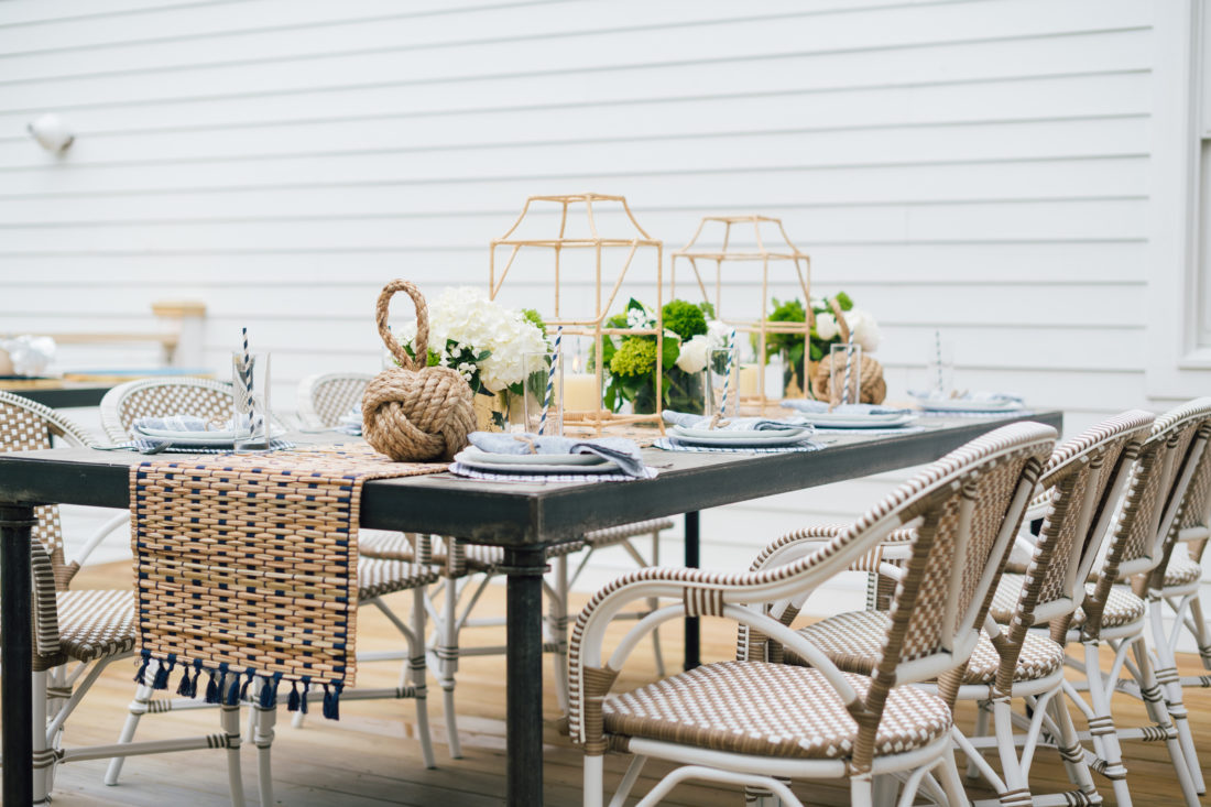 Serena and Lily tabletop decor at Eva Amurri Martino's summer clambake