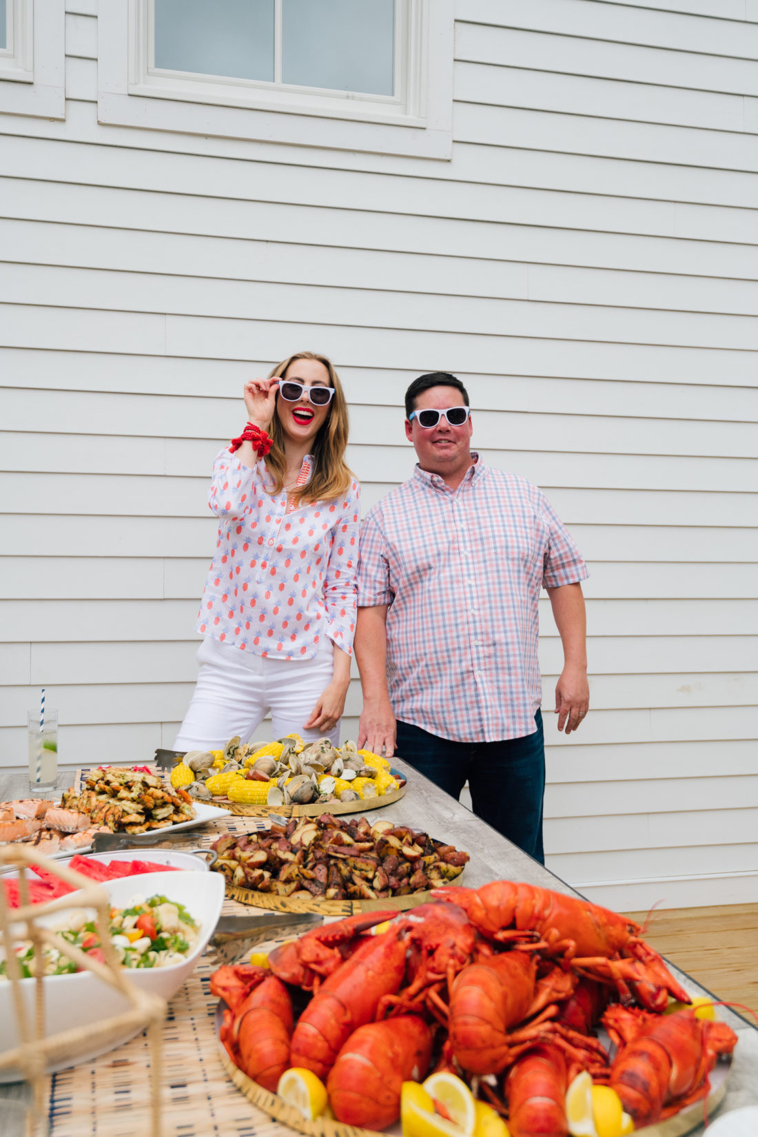 Fjord Fish Market provided lobster, salmon, clams and crab cakes for Eva Amurri Martino's clambake