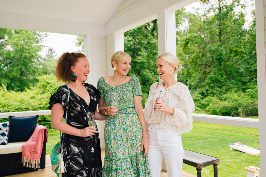 Partygoers at Eva Amurri Martino's summer clambake