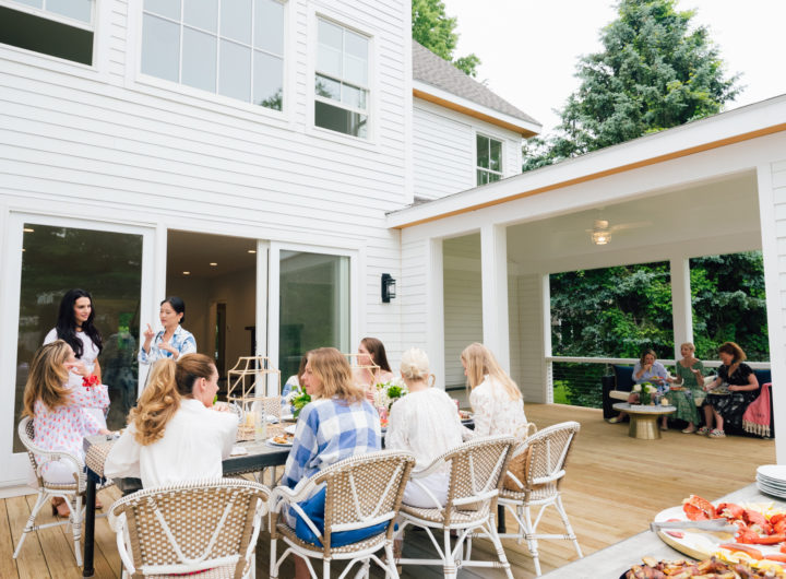 Eva Amurri Martino throws a summer clam bake in Westport CT