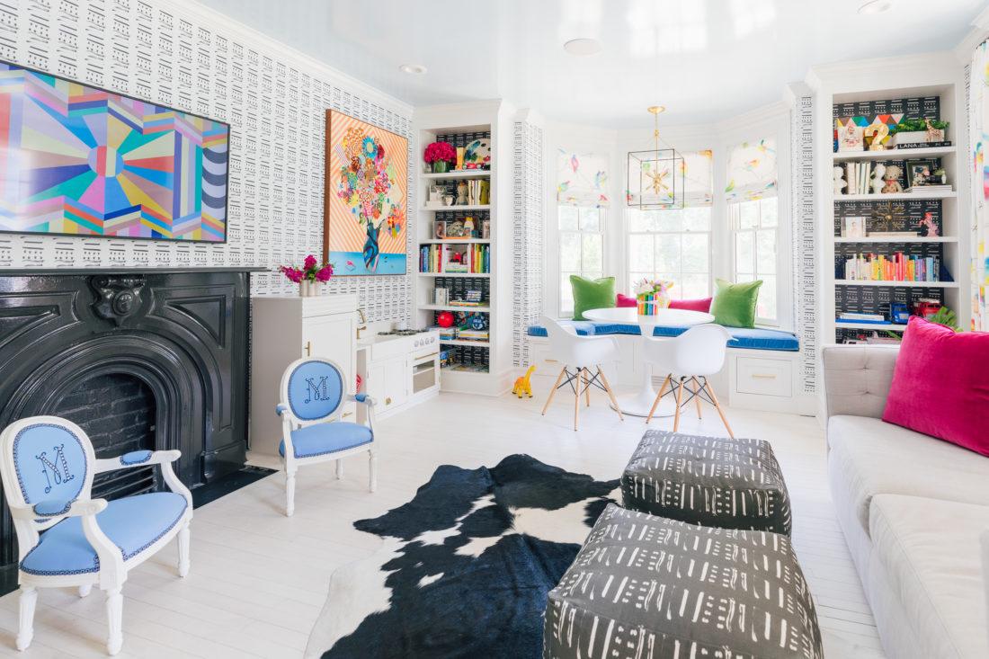 The newly finished playroom inside Eva Amurri Martino's Westport CT home