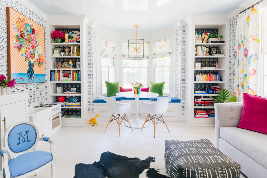 A colorful banquet in the playroom of Eva Amurri Martino's newly renovated Westport CT home