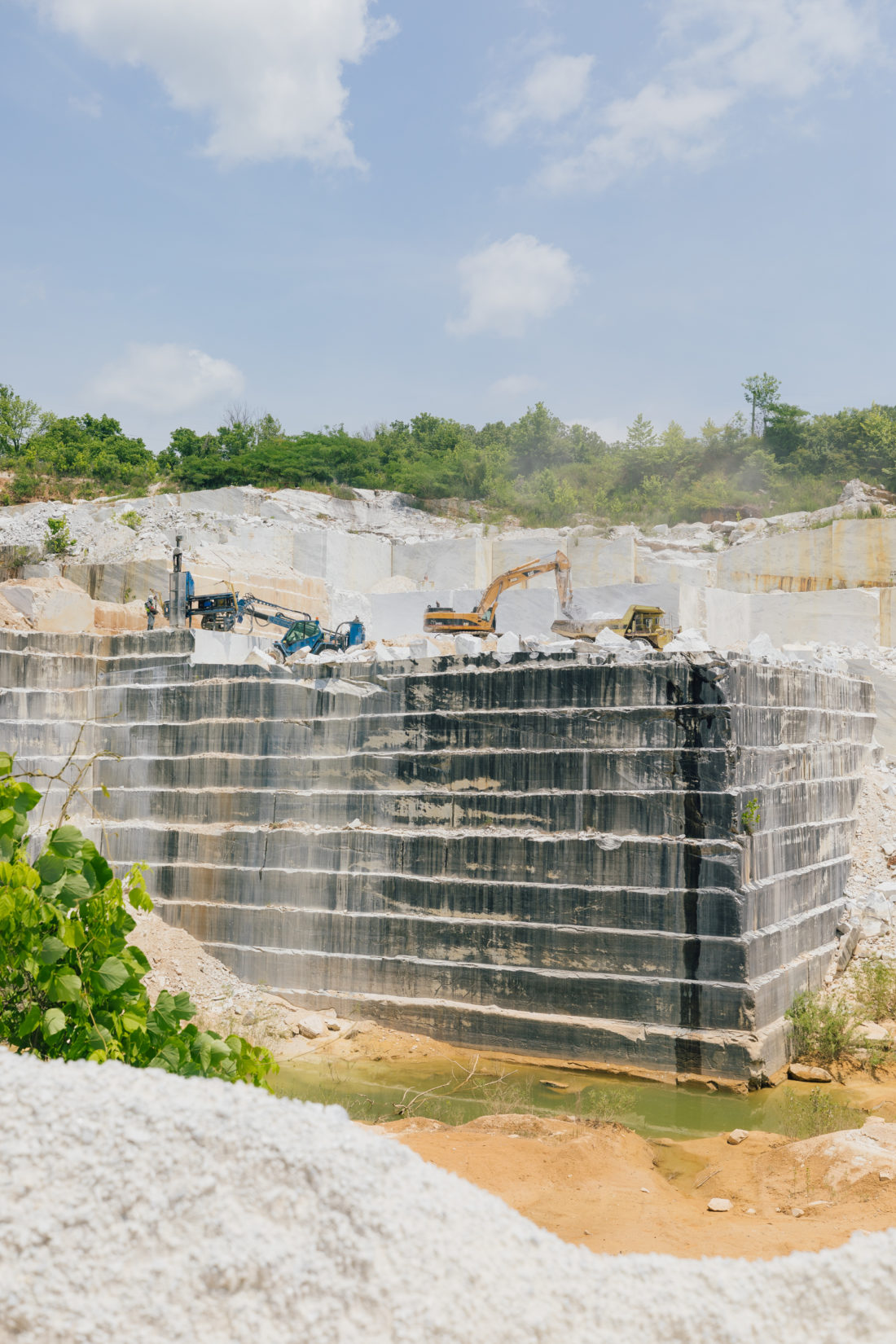 The Polycor marble quarry in Georgia
